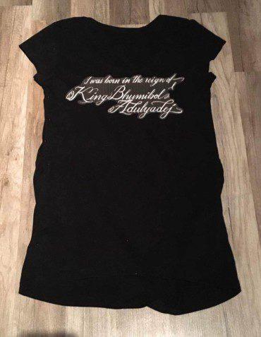 Flocage tee-shirt à la mémoire du Roi